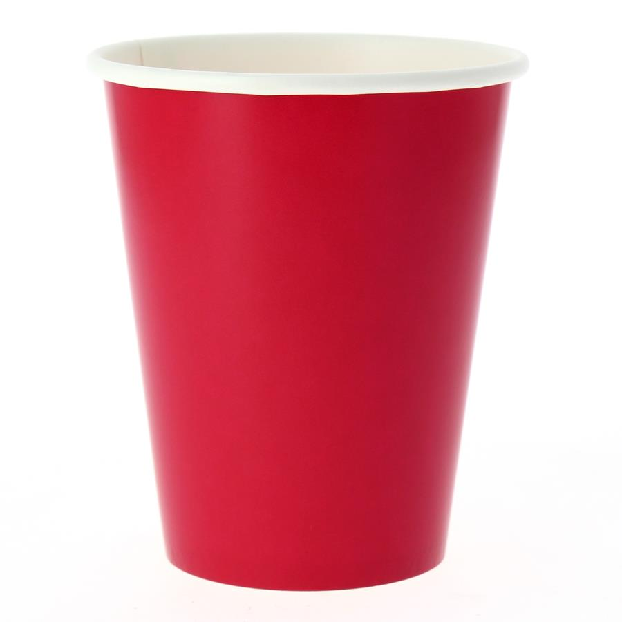 EXCLUSIVE TRADE - 8 Gobelets Compostable Rouge