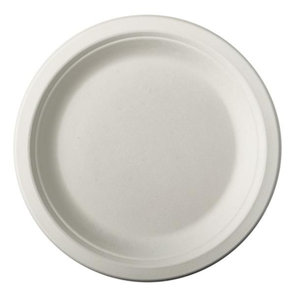 PAPSTAR - 12 Petites Assiettes en Canne a Sucre - Blanc
