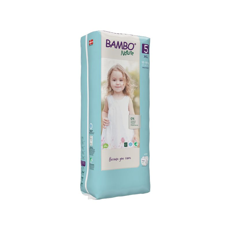 Bambo Nature - Couches Bambo Nature Junior T5 (12-18kg) - 3 paquets de 44
