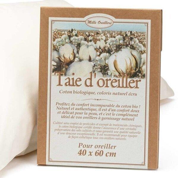 Mille oreillers - Taie d'Oreiller en coton bio - 40 x 60 cm