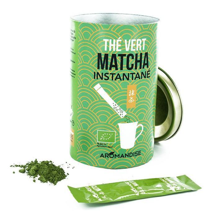 Aromandise - Thé vert Matcha instantané en sticks