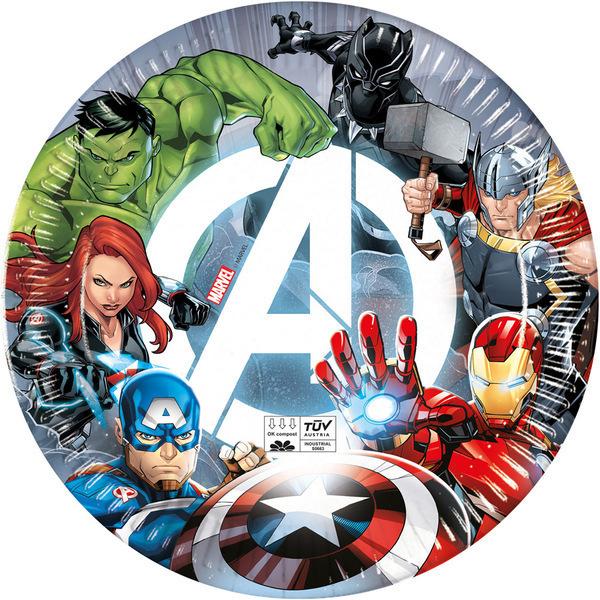 DECORATA PARTY - 8 Assiettes Avengers - Compostable