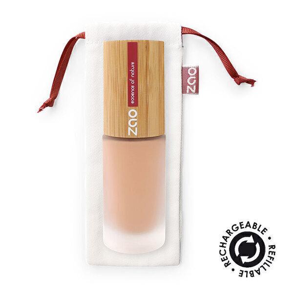 Zao MakeUp - Fond de teint fluide Soie de teint 705 Cappuccino