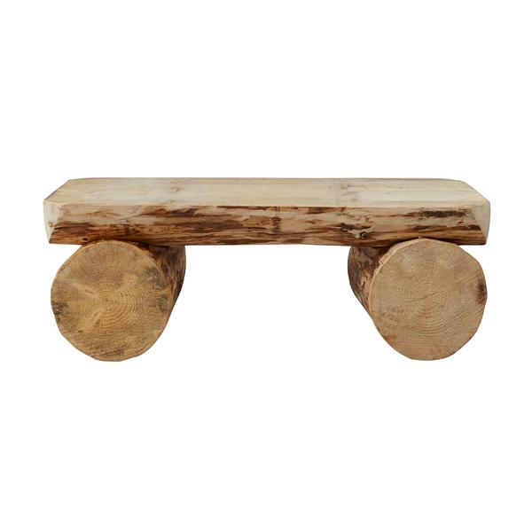 Grenier Alpin - Banc rustique en bois 120 cm
