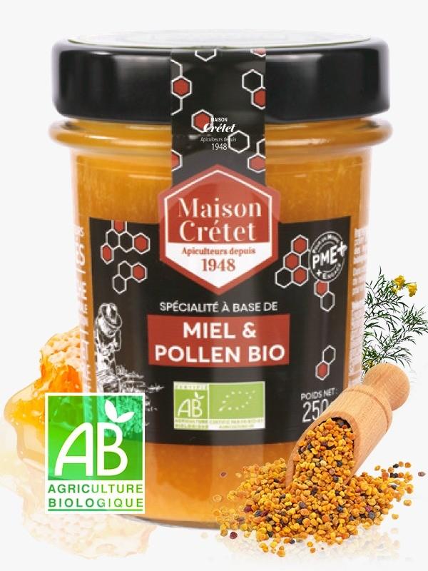 MAISON CRETET - Miel et pollen bio 250g