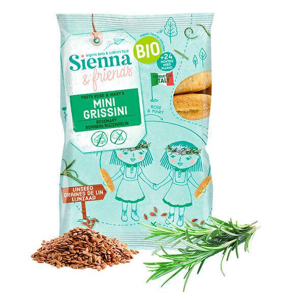 Sienna & Friends - Mini grissinis au romarin 20g - Dès 12 mois