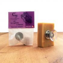 Celsius & milligrammes - Porte-savon Aimanté pour savon jusqu'à  150gr avec ventouse