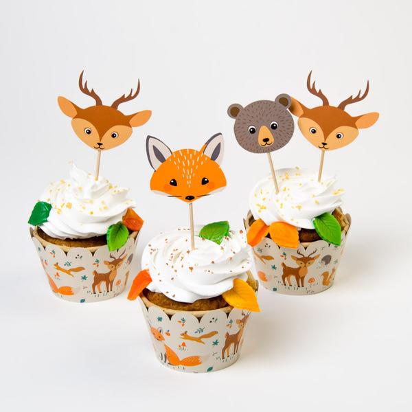 Annikids - Kit Cupcakes Animaux de la Forêt - Recyclable