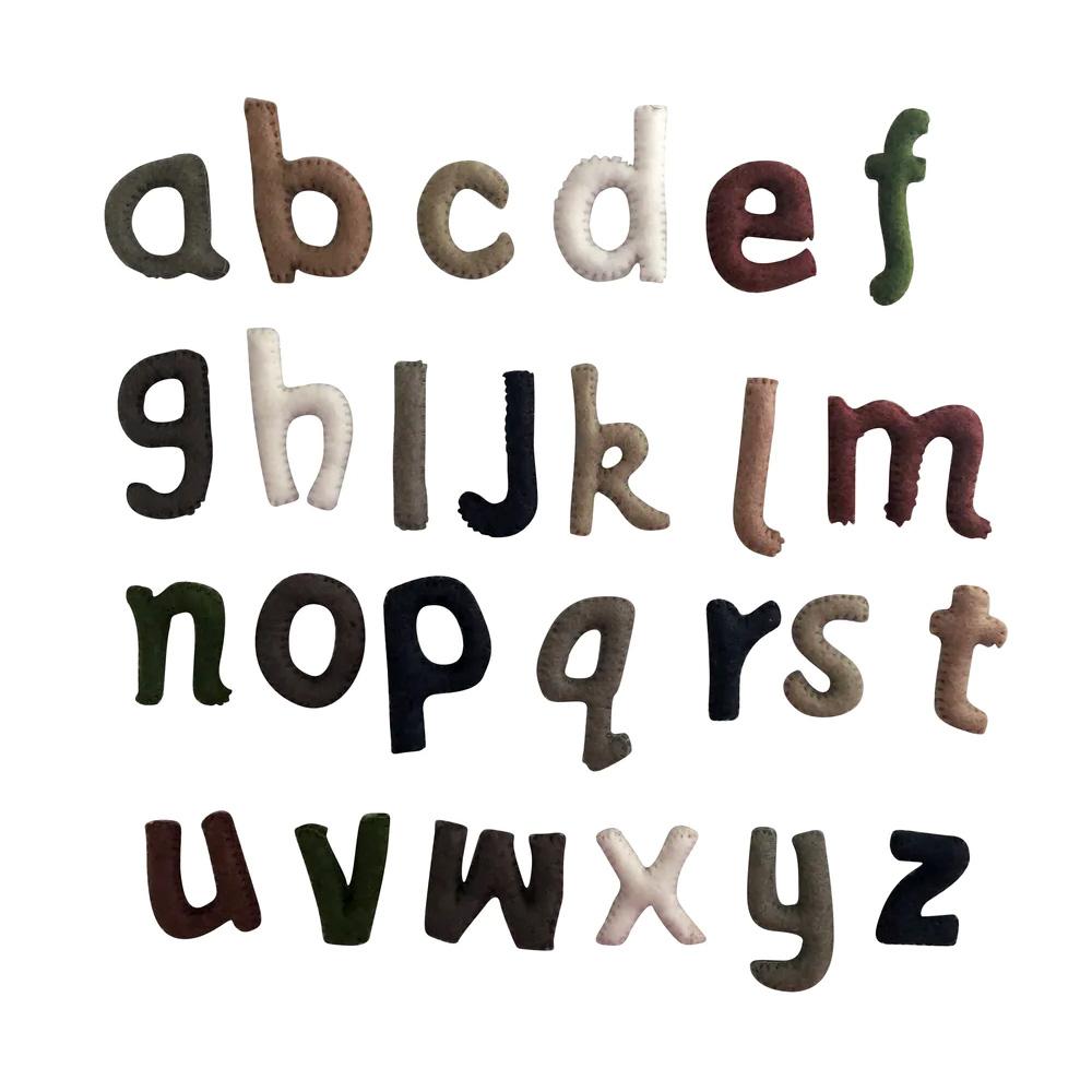 PAPOOSE TOYS - Alphabet en laine feutrée - les minuscules