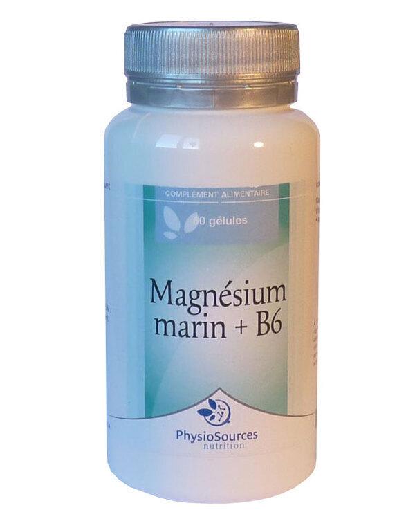 Physio Sources - MAGNESIUM MARIN + B6 60 gélules aquacaps 271 mg
