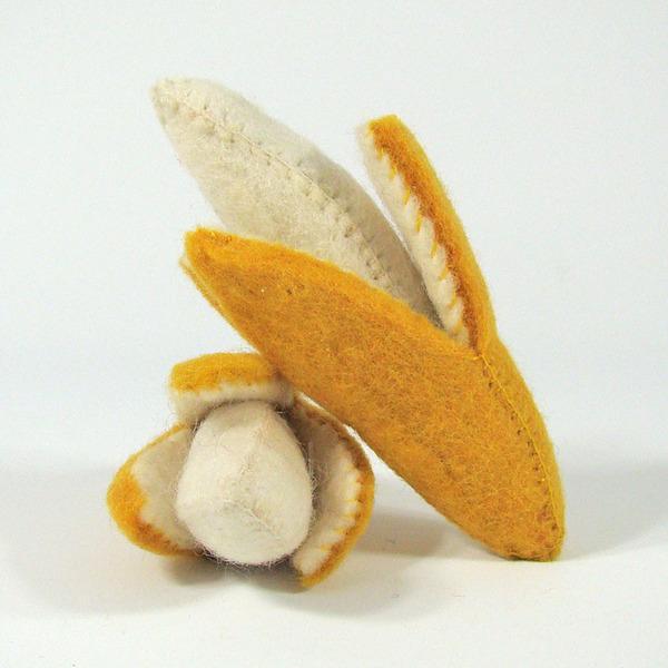 PAPOOSE TOYS - Fruits en laine feutrée - 2 bananes
