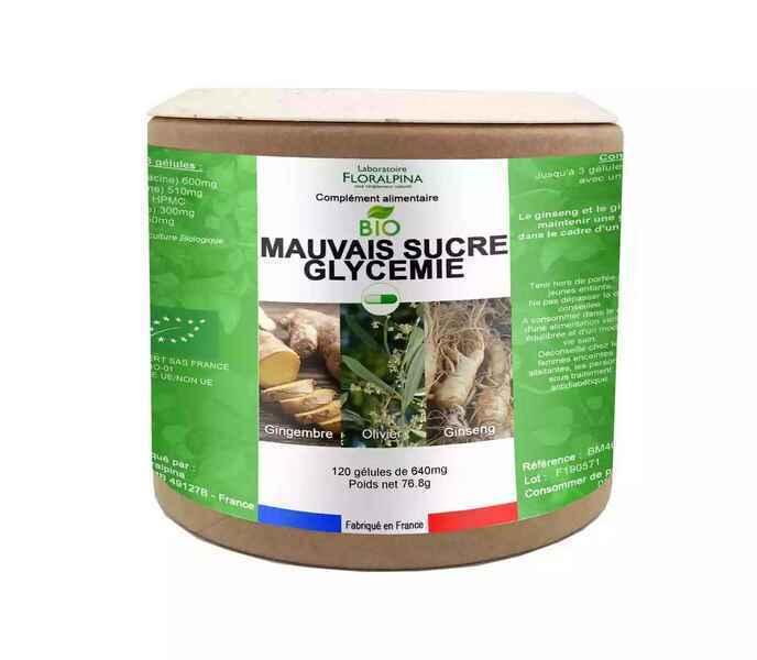 Rue des Plantes - Mauvais sucre glycémie bio 120 gélules