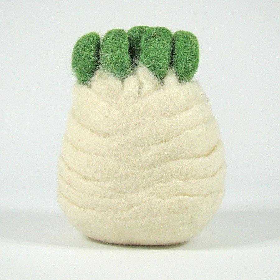 PAPOOSE TOYS - Légumes en laine feutrée - Fenouil