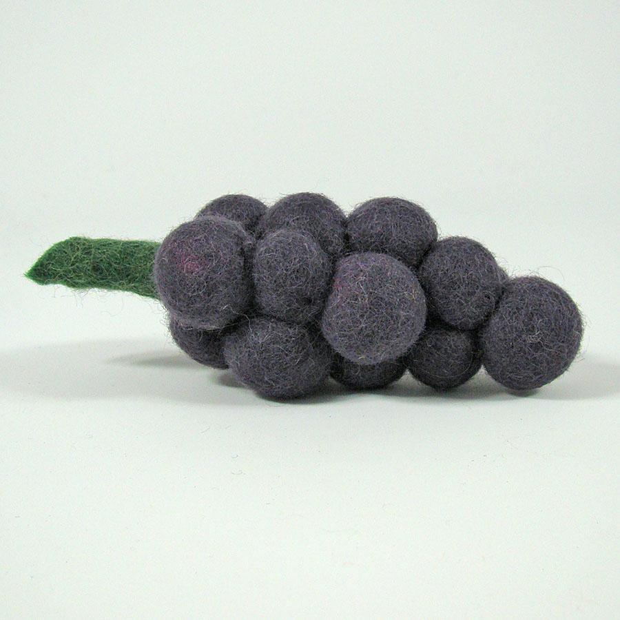 PAPOOSE TOYS - Fruit en laine feutrée - Grappe de raisin