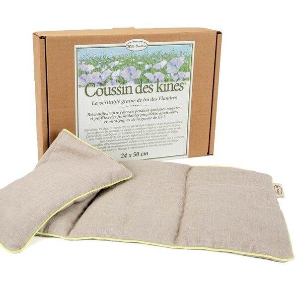 Mille oreillers - Coussin des kinés® - Graines de lin - 24 x 50 cm
