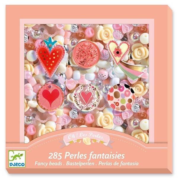 Djeco - Perles fantaisies theme coeur