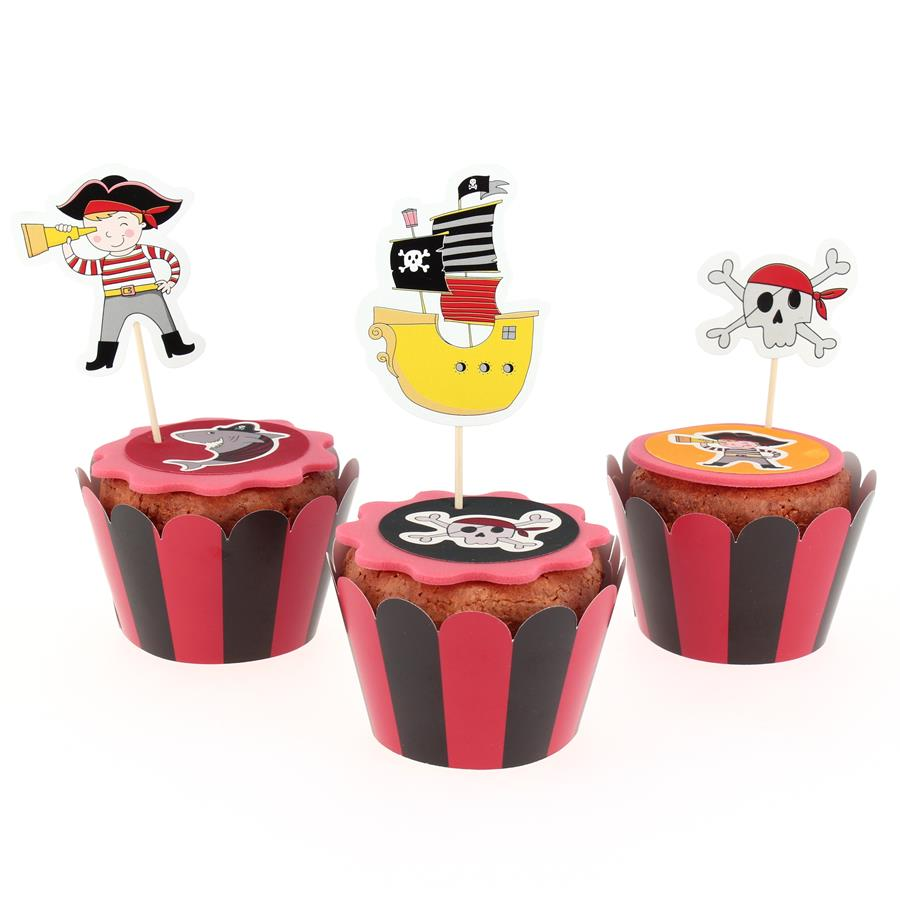 Annikids - Kit Cupcakes Pirate Color - Recyclable