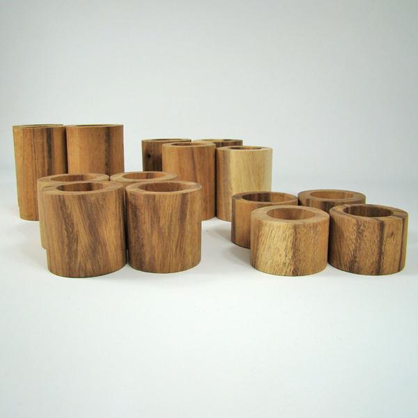 PAPOOSE TOYS - Tubes en bois - set de 16