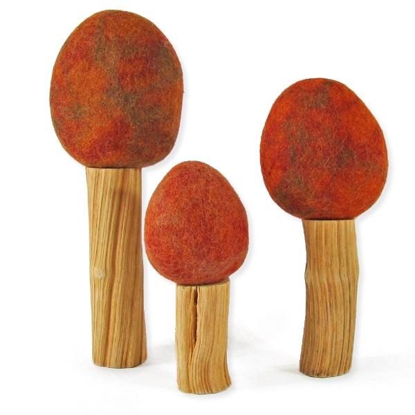 PAPOOSE TOYS - Arbres d'automne Rainbow - set de 3