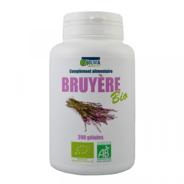Jolivia - Bruyère Bio - 200 gélules végétales de 250 mg