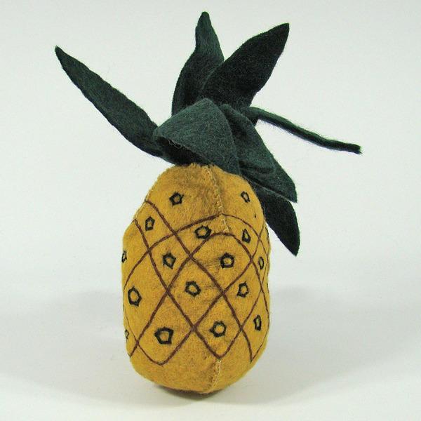 PAPOOSE TOYS - Fruit en laine feutrée - Ananas