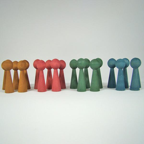 PAPOOSE TOYS - Bonhommes en bois - set 20