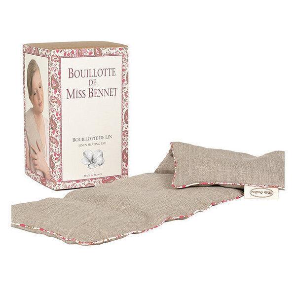 Mille oreillers - Bouillotte de Miss Bennet en lin naturel - 15 x 47 cm