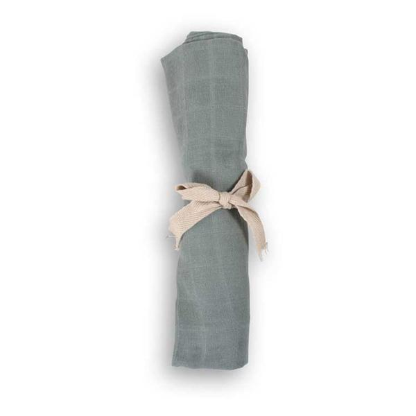 FILIBABBA - Lange en mousseline de coton biologique Moss green