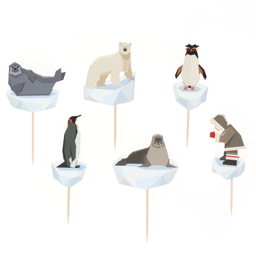 Annikids - Kit Cupcakes Animaux Polaires - Recyclable