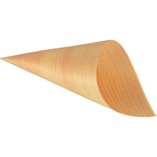 PAPSTAR - 50 Cornets (12 cm) - Feuille de bois