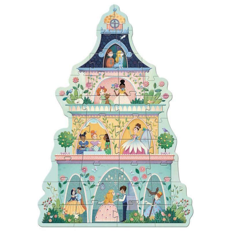 Djeco - Puzzle Geant La Tour des princesses