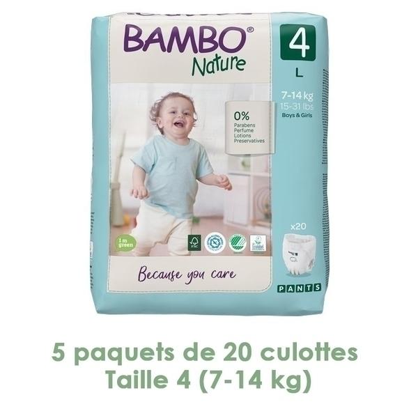 Bambo Nature - Bambo Nature Pants Maxi T4 (7-14 kg) - 5 paquets de 20 culottes