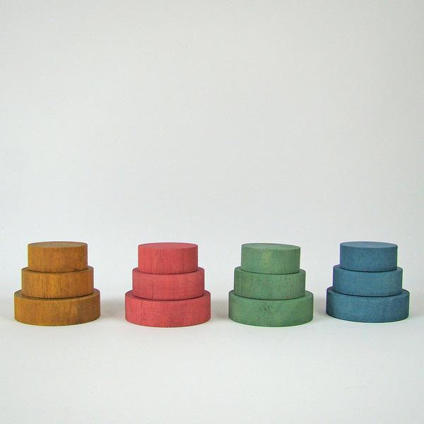 PAPOOSE TOYS - Disques en bois Earth - set de 12