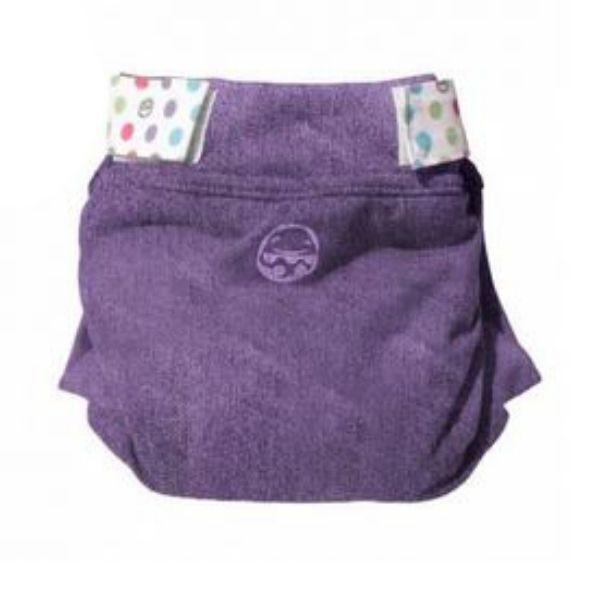 P'tits Dessous - Couche Lavable Hybride Petit Pea JEAN, Taille M(5-11 kg)-Violet
