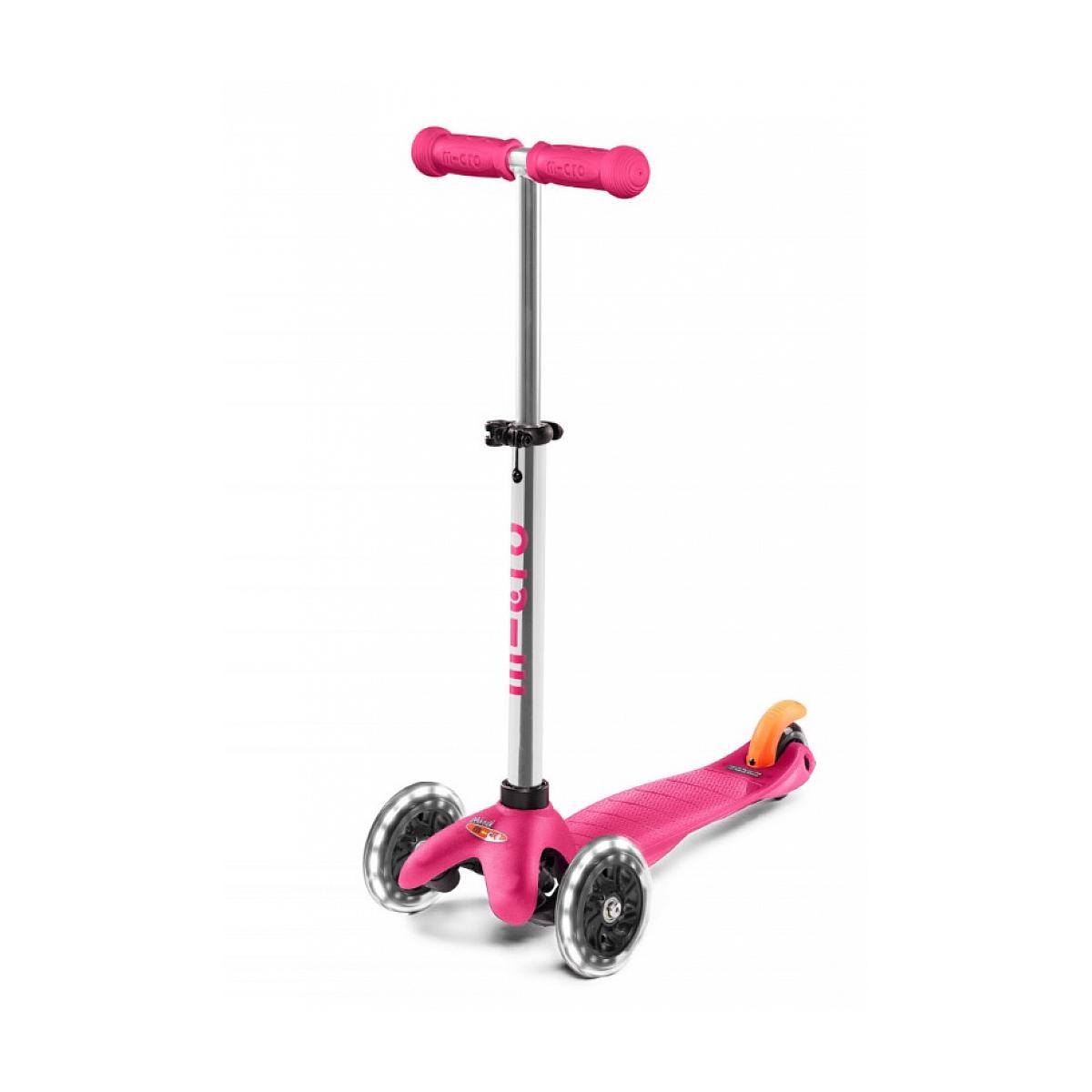 Micro - Trottinette  Mobility Mini  Plus LED Rose