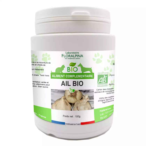 Floralpina - Ail bio 100g pour chien et chat