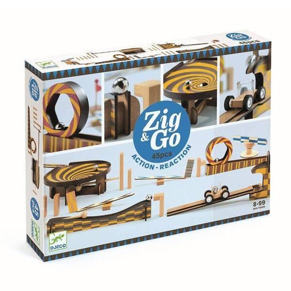 Djeco - Jeu de billes et circuit Zig  and  Go Wroom a moteur