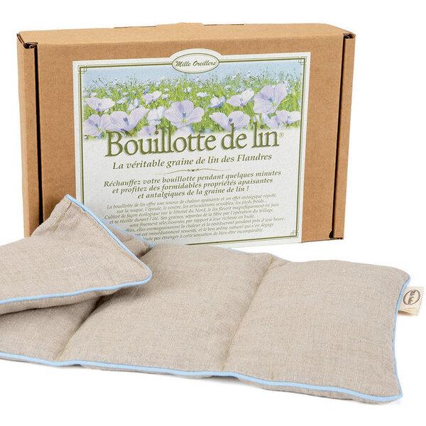 Mille oreillers - Bouillotte de lin® naturel Classique - 20 x 40 cm