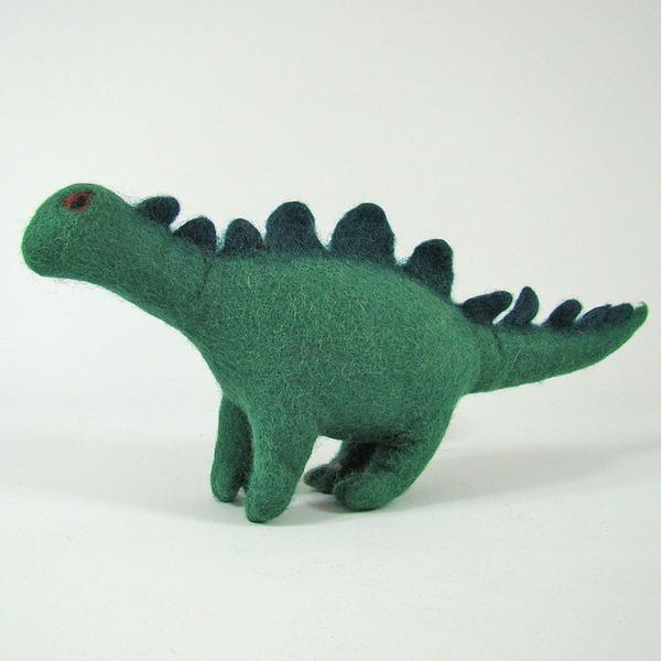 PAPOOSE TOYS - Monde des Dinosaures en laine feutrée - Rufus le dinosaure
