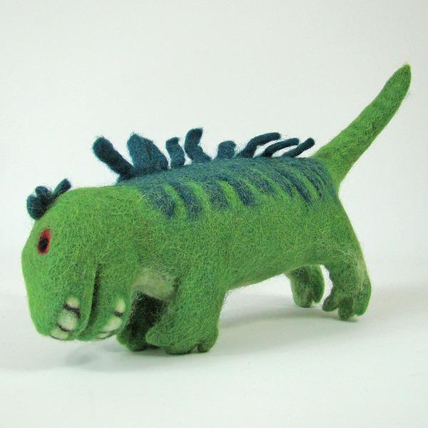 PAPOOSE TOYS - Monde des Dinosaures en laine feutrée - Dufus le dinosaure