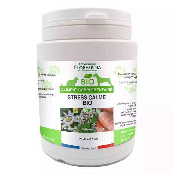 Floralpina - Complexe Calme Stress poudre Bio 100g pour chien et chat