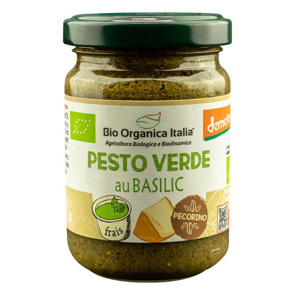 Bio Organica Italia - Pesto vert basilic et pecorino Demeter 140g