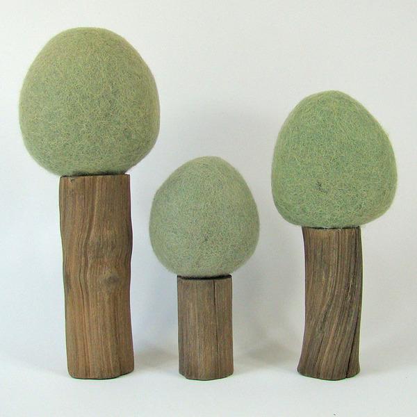 PAPOOSE TOYS - Arbres d'été Earth - set de 3