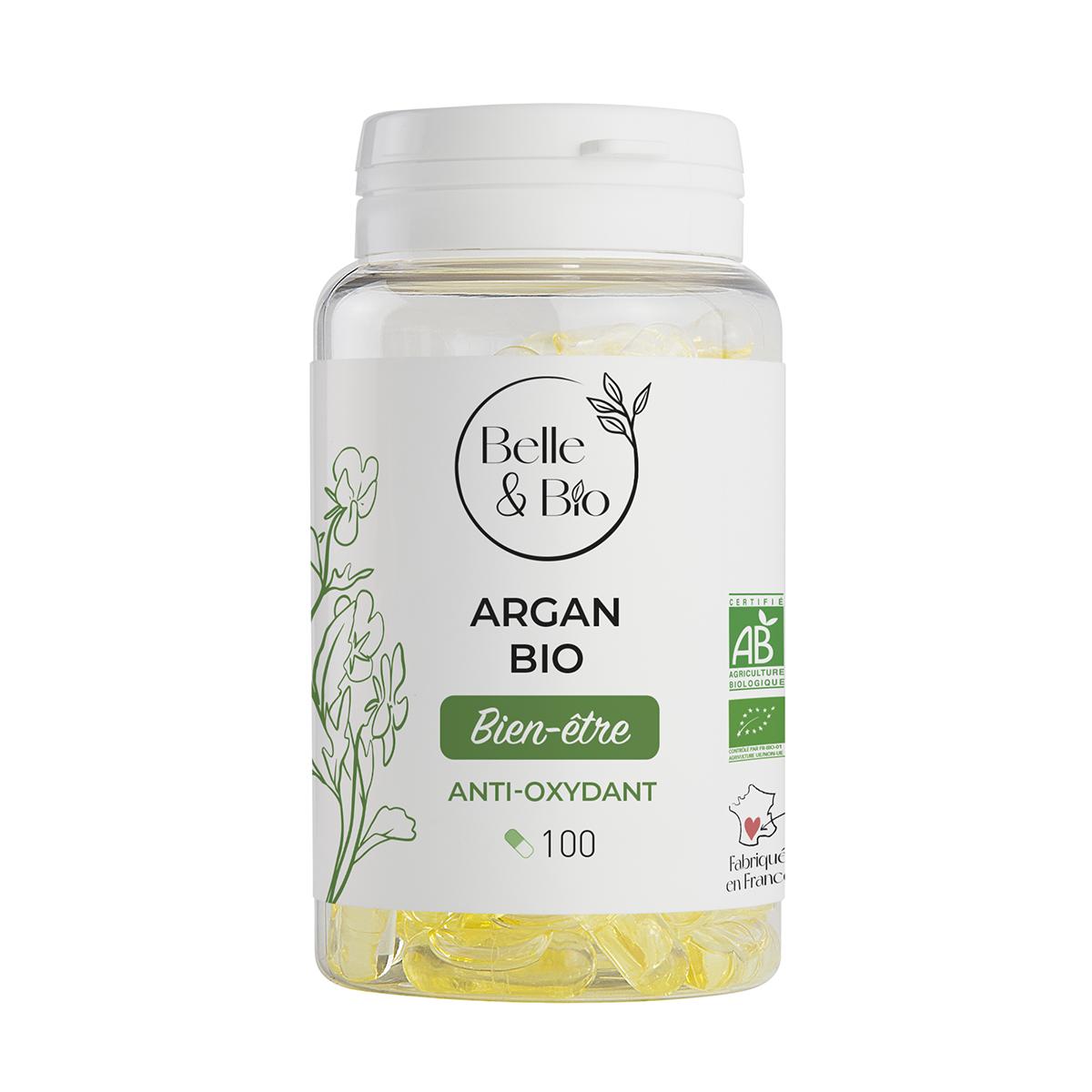 Belle & Bio - Argan Bio - 100 Licaps - Certifié AB par Ecocert