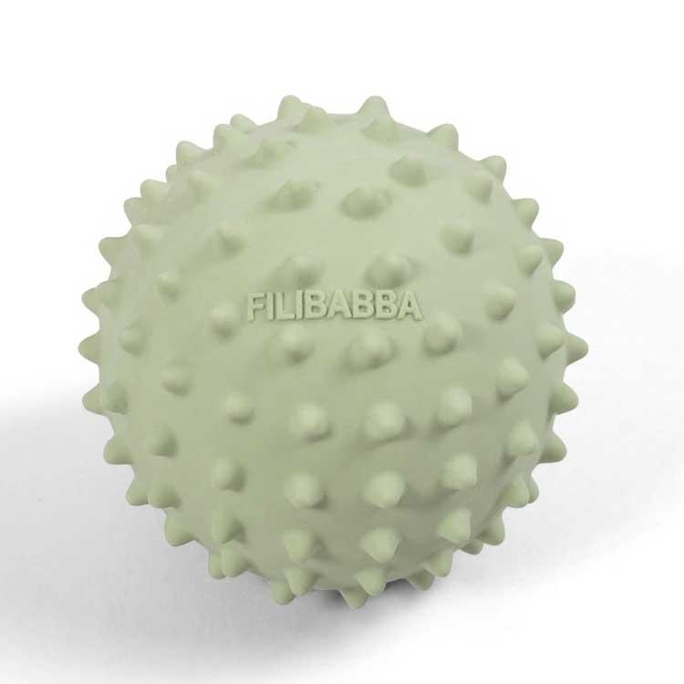 FILIBABBA - Balle sensorielle Nor en caoutchouc naturel Pistache