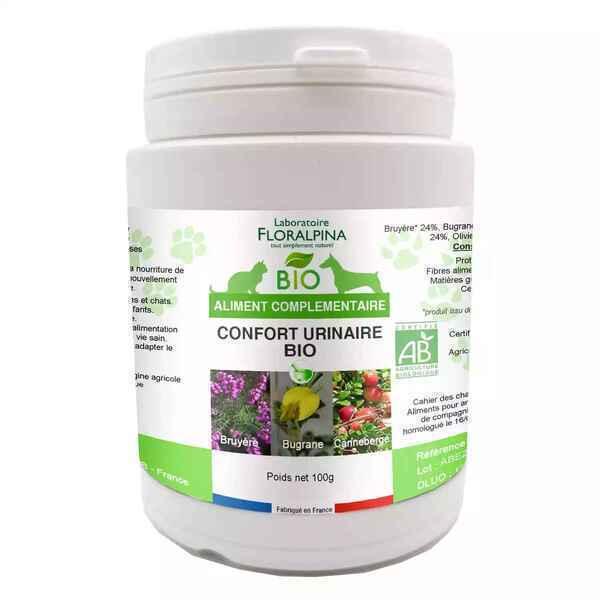 Floralpina - Complexe Confort urinaire poudre BIO 100g pour chien et chat