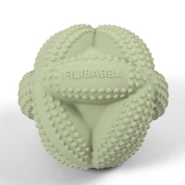 FILIBABBA - Balle sensorielle Isa en caoutchouc naturel Pistache