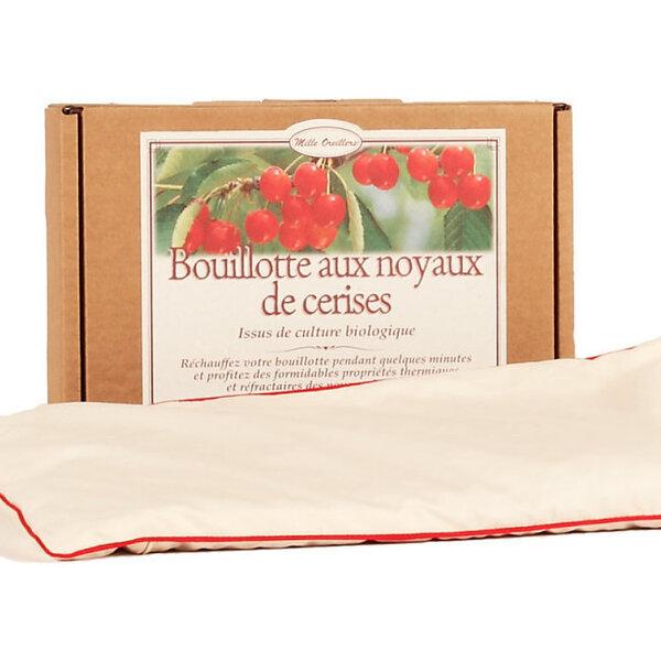 Mille oreillers - Bouillotte aux noyaux de cerises et coton bio