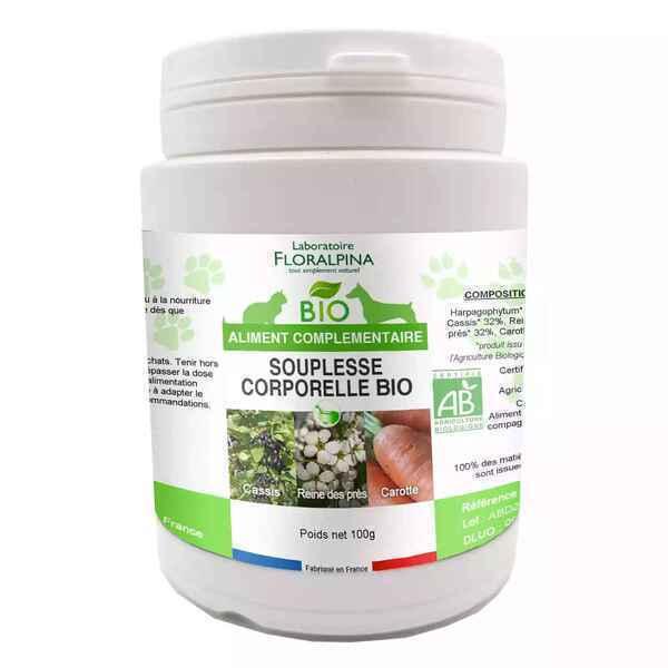 Floralpina - Complexe Souplesse corporelle BIO 100g pour chien et chat