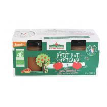 Côteaux Nantais - Purée de pommes Bio Demeter - 2x120 g
